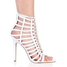 165a274db9a Crina Stiletto Heels in White.  PublicDesire Public Desire
