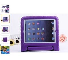 for iPad Mini 1 Mini 2 Mini 3 Case Cover Children Kids Shock Proof Safe Soft Non-toxic Foam Handle Cover Case Stand Ipad 4 Case, 4 Kids, Ipad Air, Nintendo Consoles, Cover, Amazon, Amazons, Riding Habit