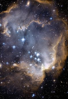 Infant Stars. This is the sort of art I want near my bed in my dream home. It would be amazing to cover the ceiling in it.
