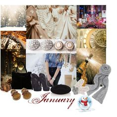 January: Ring in the New! by gregory-joseph on Polyvore featuring Gucci, Karen Millen, Stephen Dweck, Monserat De Lucca, Oasis, Accessorize, Sarah Jessica Parker, january, granet and calendar