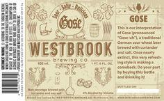 Cerveja Westbrook Gose, estilo Grodziskie/Gose/Lichtenhainer, produzida por Westbrook Brewing, Estados Unidos. 4% ABV de álcool.