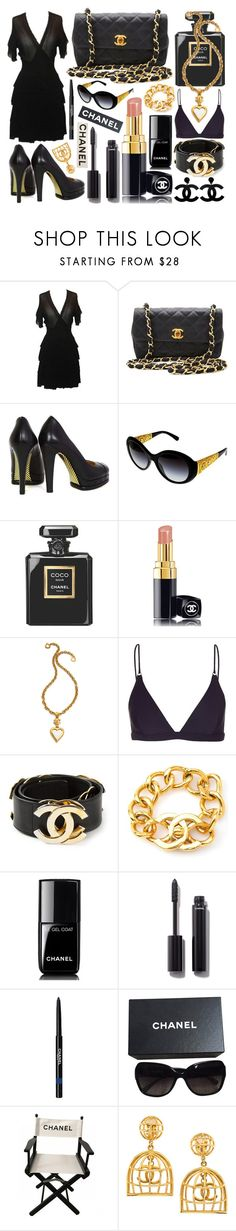 """""""💎Chanel black and gold💎"""" by lexi-loves-fashion ❤ liked on Polyvore featuring Chanel and Acne Studios"""