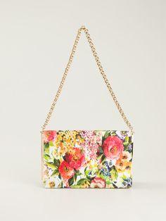 Dolce & Gabbana Floral Print Shoulder Bag in Multicolor (multicolour) | Lyst