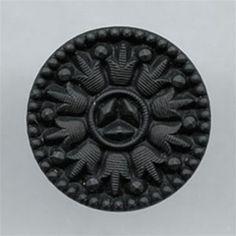 Matte Black Glass Shank Button