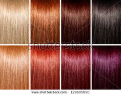 Example of different hair colors by suravid, via Shutterstock