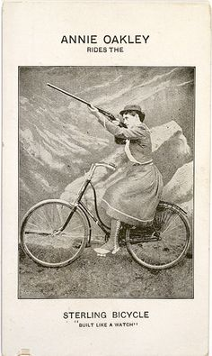 Sterling Bicycle AD featuring Legendary Annie Oakley - Has to be in the top ten of photos depicting C-gal history.