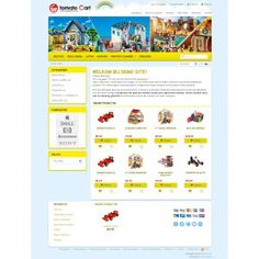 New yellow #responsive #template for #tomatocart 1.1.8.4 and 1.1.8.5. This template is for gift, toys, children... online shop.