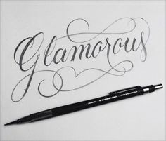 Beautiful Script Lettering Experiment by Christopher Craig Hand Lettering Alphabet, Hand Drawn Lettering, Script Lettering, Brush Lettering, Calligraphy Quotes, Calligraphy Letters, Caligraphy, Flourish Calligraphy, Typography Love