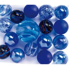 Who doesn't love blue marbles? (They look like little glass Earths). Im Blue, Blue Green, Blue And White, Color Blue, Azul Indigo, Bleu Cobalt, Glass Marbles, Blue Marbles, Everything Is Blue