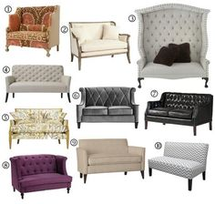 Small Space Sofa Alternatives: 10 Settees & Loveseats