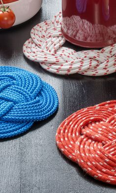 Diy And Crafts, Arts And Crafts, Knit Crochet, Deco, Knitting, Handmade, Knob, Crafting, Blue Prints