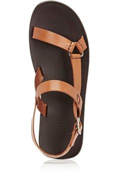 c27bc43853490 Barneys New York Slingback-Strap Sandals - 8 M Tan Sandals Outfit