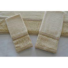 sherry kline natural cheetah 3 piece decorative towels - Decorative Towels