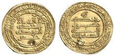 ABBASIDEN, Kalifen in Bagdad, AV-Dinar, 9. Jahrhundert u.Z., gewellt, gelocht, 4.07 g, ss    Dealer  Auction house Ulrich Felzmann    Auction  Minimum Bid:  150.00EUR