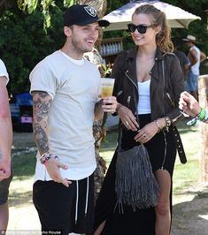 A couple that parties together... Musician Alexander DeLeon and his model girlfriend Josep...
