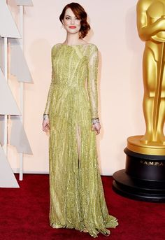 The 2015 Oscars red carpet dresses: Emma Stone