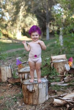 A troll doll... photographer gina lee and her daughter willow declared october dress up willow month to celebrate halloween