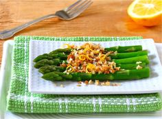 ASPARAGUS WITH TOASTED BREADCRUMBS http://lizthechef.com/2013/03/05/grandmas-recipe-of-the-month-asparagus-with-toasted-breadcrumbs/ #asparagus