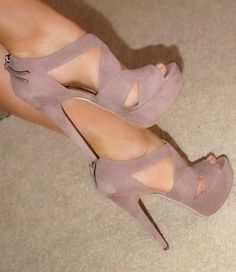 Blush Suede -- 35 High Fashion Heels On The Street - Style Estate -