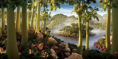 Landscapes made out of food... a waste, but a fun and interesting waste nonetheless.