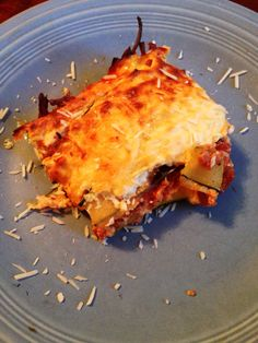 6PP Zuccini lasagna!! So good. You'd never know there were no noodles. Weight watchers recipes with points.