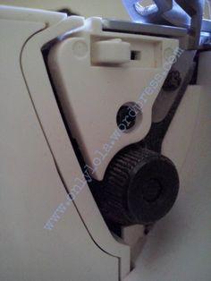 rueda de ajusto de anchura de puntada overlock
