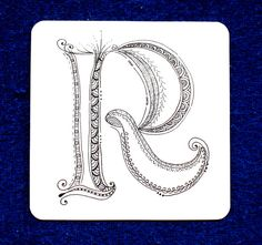 "What a delightful discovery I made tonight... this lovely Zenspirations monogram ""R""."