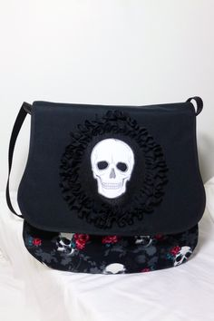 The chic Skulls&roses bag on Etsy, designed by Forever Goth Skulls And Roses, The Chic, Goth, Shoulder Bag, Bags, Etsy, Design, Fashion, Goth Subculture