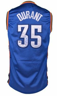 Kevin Durant Autographed Jersey - GA - Autographed NBA Jerseys by Sports Memorabilia. $499.99. Kevin Durant Autographed Jersey - GA. Terrific autograph quality. It's hard to find pieces like this since Kevin Durant doesn't sign very often. Sportsmemorabilia takes pride in our inventory, and every piece we sell has been evaluated for quality and authenticity. This piece is certified by Sportsemorabilia hologram. Value will likely increase with time. We love pieces like this ...