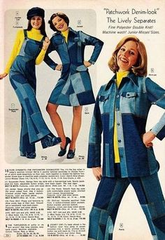 Golf Fashion Vintage Women's fashion, ca 70s Inspired Fashion, 60s And 70s Fashion, Fast Fashion, Denim Fashion, Vintage Fashion, Golf Fashion, Women's Fashion, Lolita Fashion, 70s Women Fashion