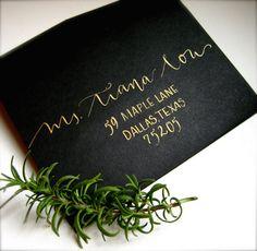 Wedding Calligraphy Addressing. $1.50, via Etsy.