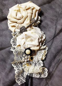 Vintage Steampunk Wedding Headband  via Etsy