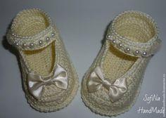 Irish crochet &: BABY BOOTEES.Step by step