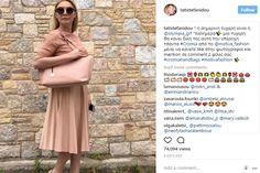 Η Τατιάνα Στεφανίδου με τσάντα Cromia