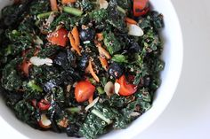 Kale and quinoa combine in this salad for a meal you'll want to make again and again. Packed with nutrients like healthy fats, protein, and fiber, and vitamins A, C, and K, it's a healthy and filling lunch that will fuel your body right.  Calories: 377 Photo: Leta Shy