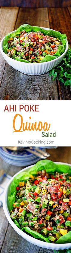 Ahi Poke and Quinoa Salad. http://www.keviniscooking.com