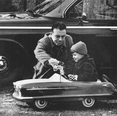 Pedal car. Kid, remember to readjust the mirrors  and watch for your blind spot