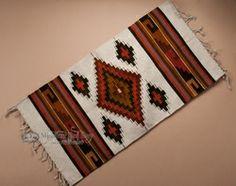 "Southwestern Zapotec Indian Rug 23""x39"" (41)"