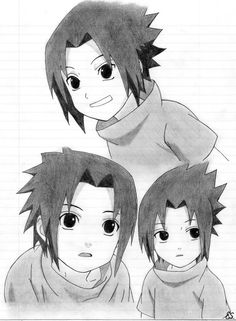 Little kid Sasuke. Sasuke Drawing, Naruto Drawings, Anime Drawings Sketches, Sasuke And Itachi, Naruto Sasuke Sakura, Naruto Uzumaki, Boruto, Anime Naruto, Manga Anime