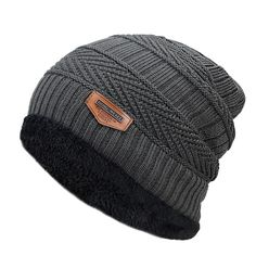 eecc7215f17 Beanies Knit Hat Winter Cap For Men Fashion Warm Knit Beanie