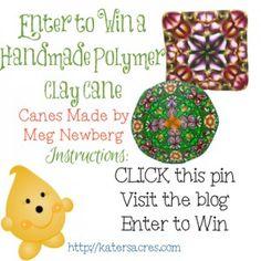 Giveaway Meg Newberg Polymer Clay Canes on KatersAcres Blog