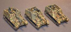 German WW2 Hummels. Painted by Tajima1 Miniatures and for sale.