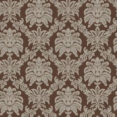 The Wallpaper Company, 56 sq. ft. Brown and Metallic Sweeping Damask Wallpaper, WC1282422 at The Home Depot - Mobile