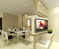 Afbeeldingsresultaat voor room divider kast tv led