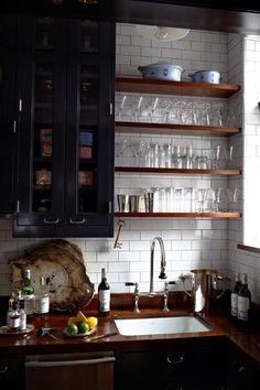 lovely open shelves