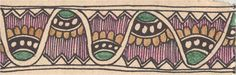Madhubani Art Practice: Border and Animal Design #22