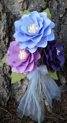 Paper Flowers Weddings Party Favors by morepaperthanshoes