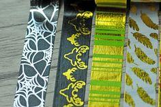 20 pcs/lot DIY Japanese Paper Decorative Adhesive Tape Cartoon Gold Striped 3…