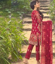 Mina Hasan Embroidered Chiffon Suits Collection 2016 Volume-2 MH_1