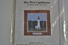 Key West Lighthouse Quilt Pattern Eileen Flanagan by PanchosPorch Key West Lighthouse, So Creative, Craft Items, Great Artists, Vintage Shops, Quilt Patterns, I Shop, Etsy Shop, Quilts